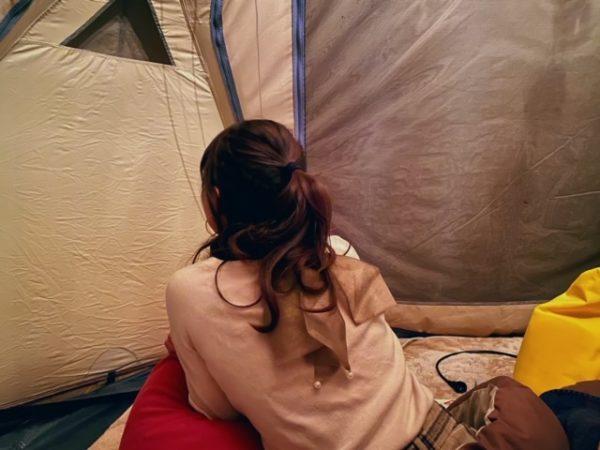 グランピングテント室内