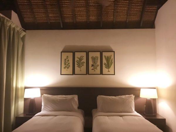 マレーシア 水上コテージベッドルーム1