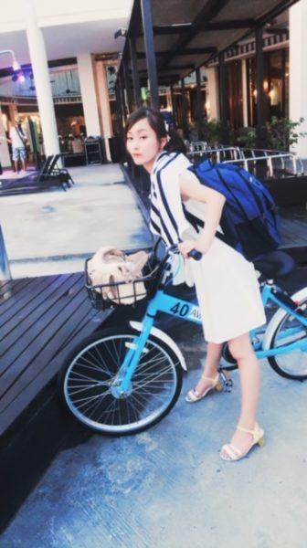水上コテージ 自転車