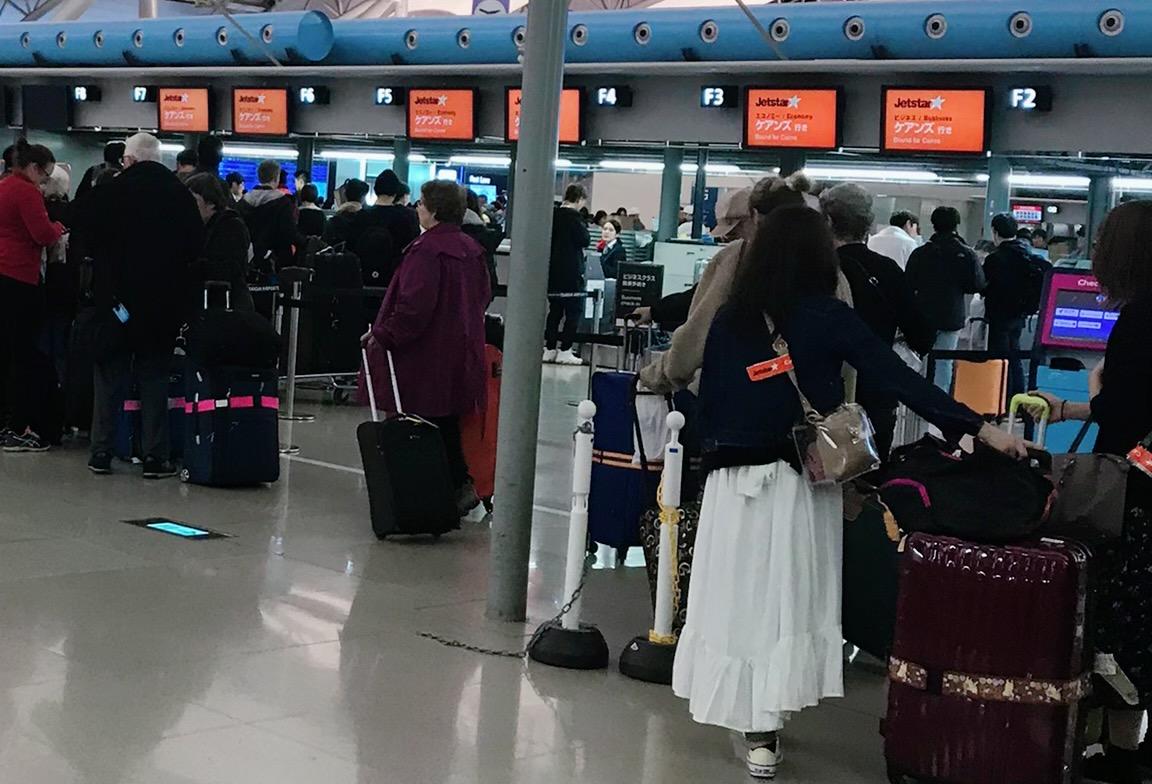 関西国際空港ケアンズ行き