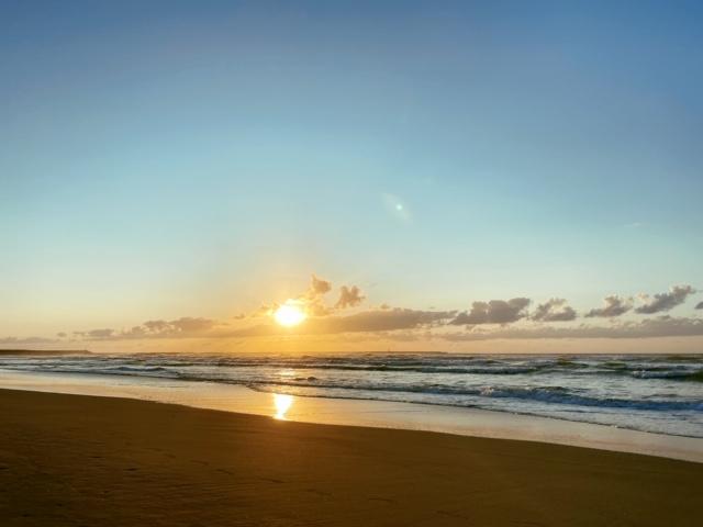 内灘海岸絶景夕日