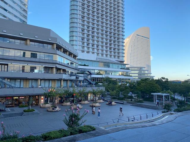 横浜ホテル周辺カフェから見える景色1