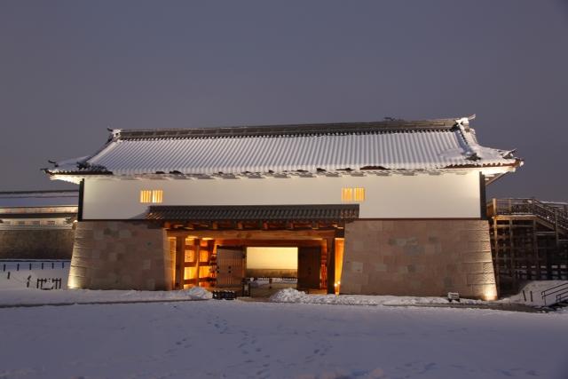 金沢雪景色