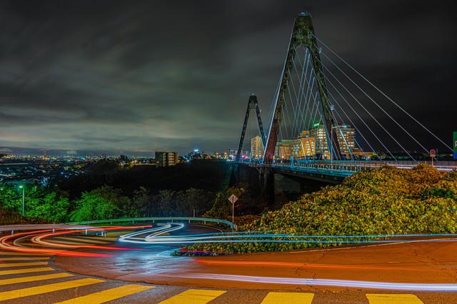 pixta_夜の内灘大橋