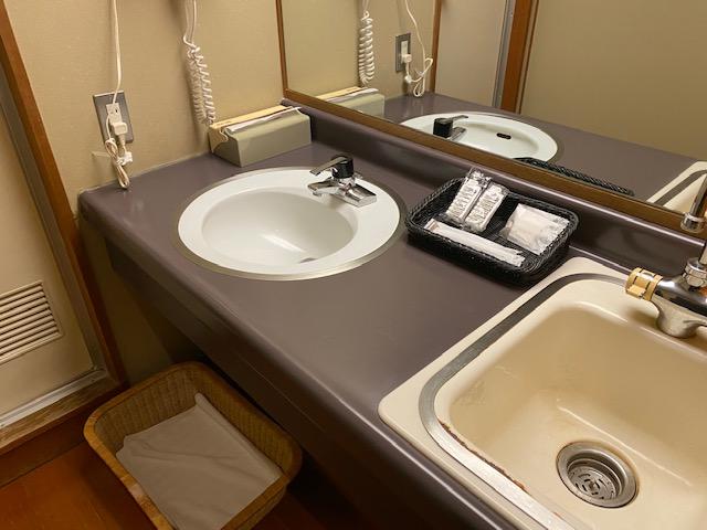 岩松旅館 客室 洗面所