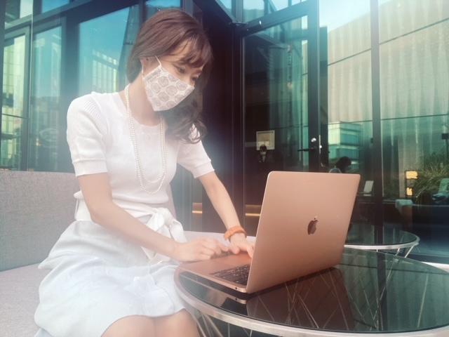 ゲートホテル東京 ルーフトップテラス PC作業